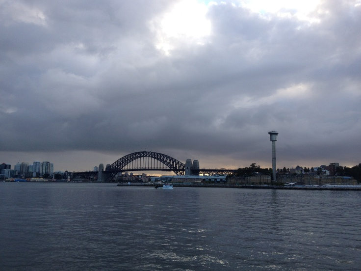 Sydney Harbour Bridge, Sydney, from a bicycle, 6am