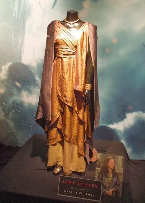 Jane Foster's Gold Asgardian gown. Lots of good pictures on this site!