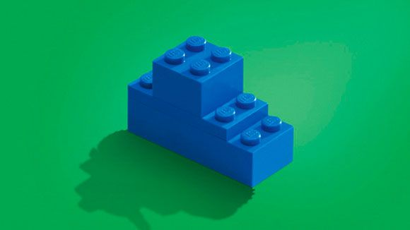 Print advertising Lego