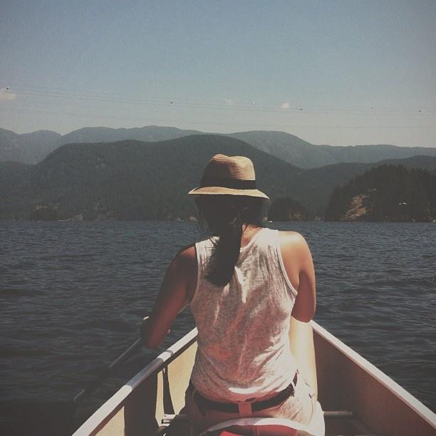 canoeing in Deep Cove (Instagram - Coolitagain)