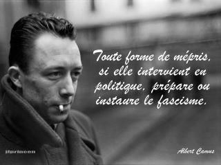 Citation Albert Camus - Chants et luttes