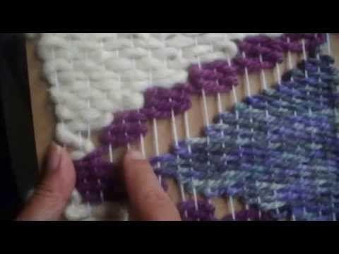 Telar de Tapiz, como cambiar de colores                              …
