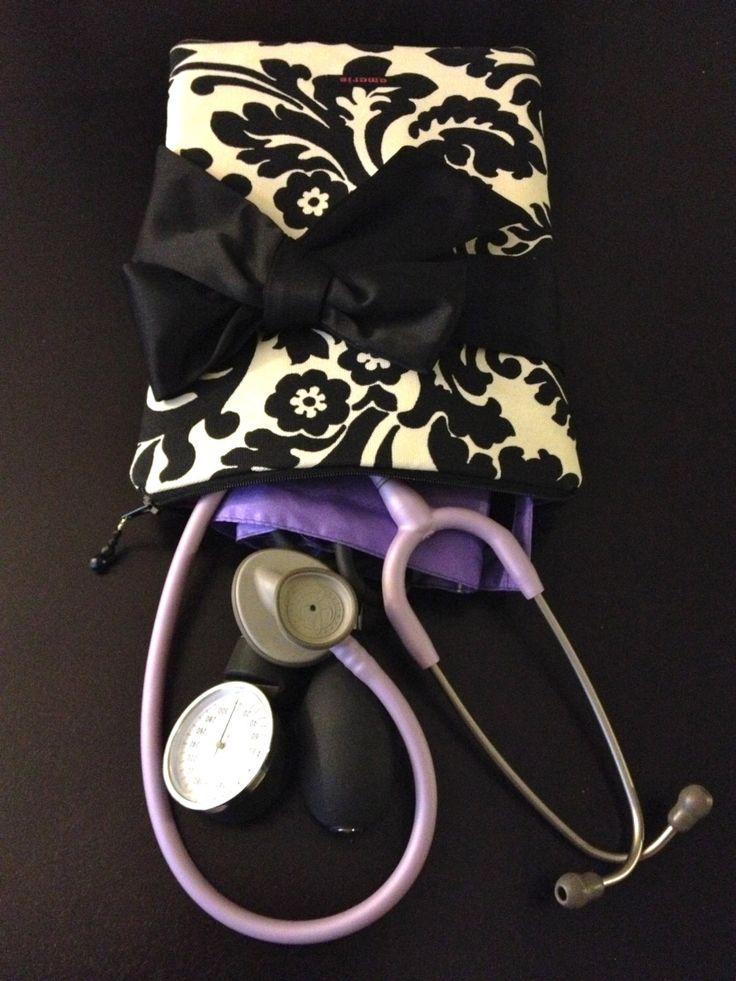 The 25 best nurse pouch ideas on pinterest galbladder diet nursing purse w bow nurse pouch for stethoscope bp cuff in black malvernweather Images