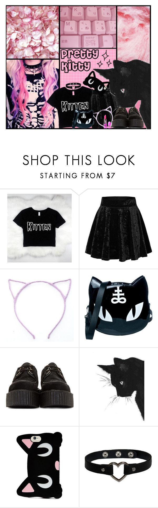"""1344"" by anastaziah2014 ❤ liked on Polyvore featuring Killstar, Underground, Forever 21 and Lime Crime"