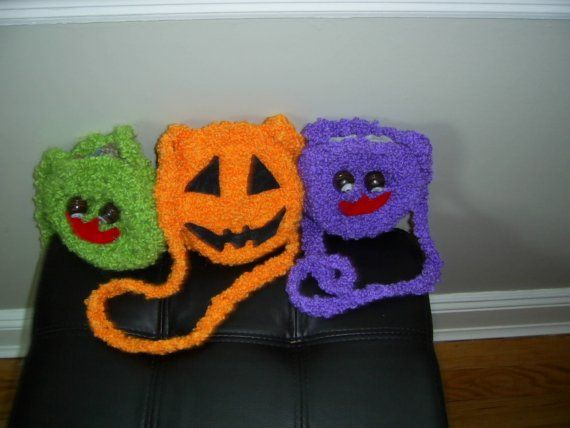 Handmade Halloween Bags toddlers girlaccesorie by inspirebynancy, $12.00