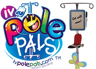 Brighten any hospital room with these colorful and fun IV Pole Pals. Lots of designs to choose from. Pole Pals attach securely to the IV Pole.