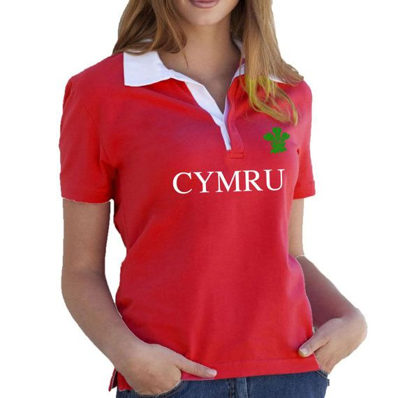 Retro Rugby Shirt. Short Sleeved UK Six Nations Wales by SillyTees