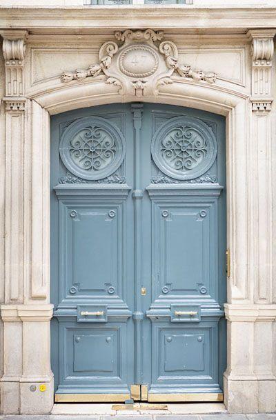Paris Photography - Paris Blue Door Number 47