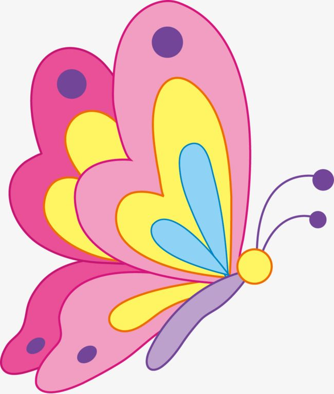 Vector Cartoon Butterfly, Cartoon Vector, Butterfly Vector