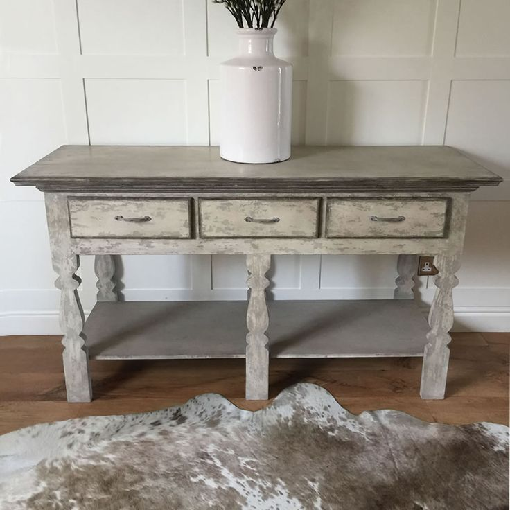 Perfect distressed console tabel, Shabby and coastal