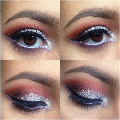 Love that the white eyeliner along the bottom lashes continues out along the wing  xoxoxoxo