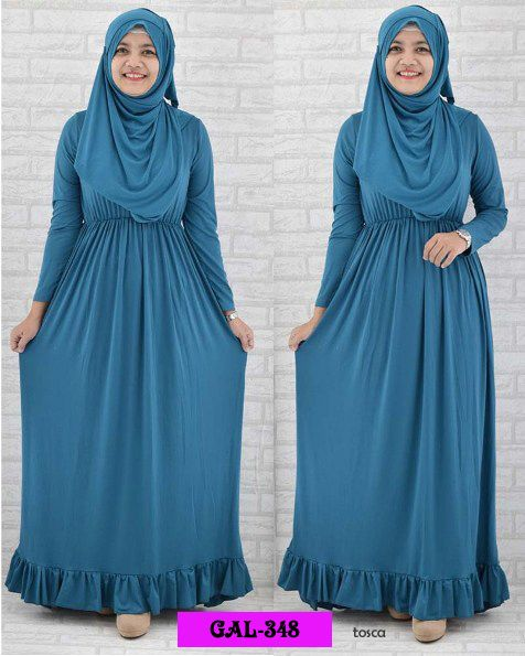 Koleksi Gamis Cantik :  Kode : GAL-348, Nama : Set Hijab Naura, Harga : IDR 119, Warna : Toska, Bahan : Spandek Korea