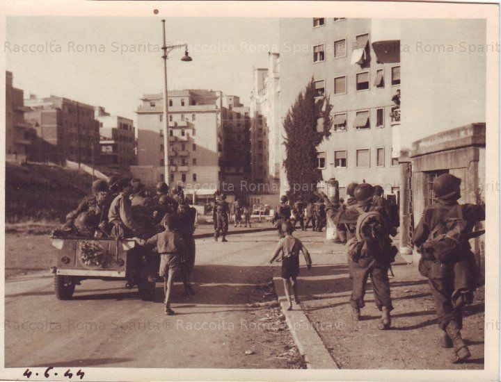 Roma Sparita - Municipio II, mattina del 4 giugno 1944, ingresso della V Armata nel quartiere Nomentano Trieste. Via Sirte.