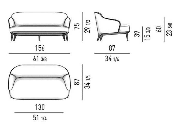 LESLIE | Sofa By Minotti | Drawing furniture, Sofa drawing ...