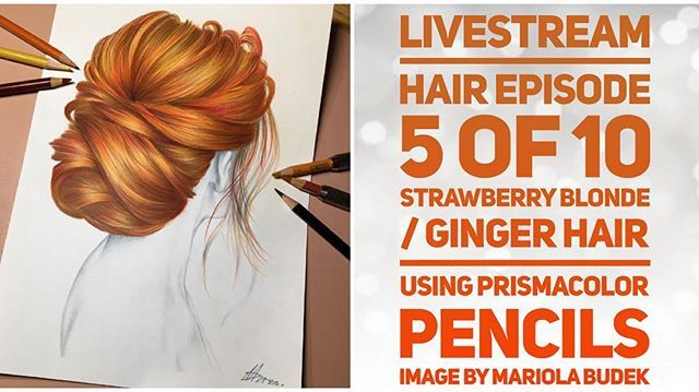 Strawberry Blonde Ginger Hair Tutorial Color Combo With Prismacolor Pencils Samantha Coloura Prismacolor Strawberry Blonde Hair Color Strawberry Blonde