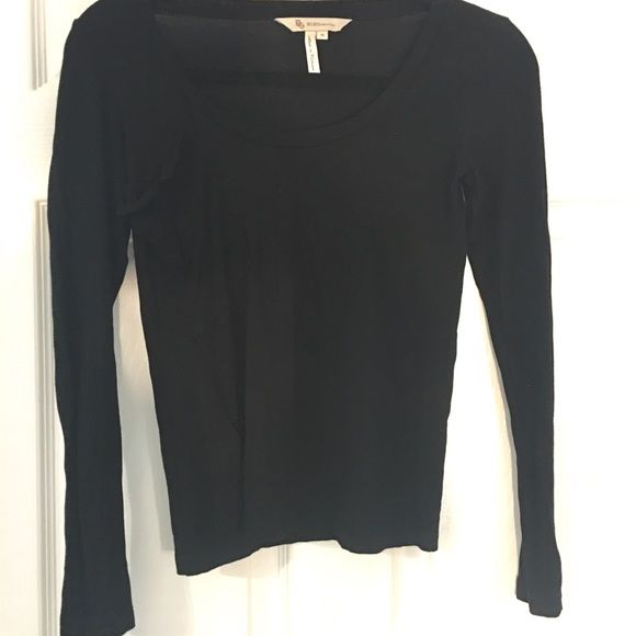 BCBGeneration Black Long Sleeve Top Size XS This black 100% Rayon long sleeve BCBGeneration top is in excellent condition! It is a must have basic for your wardrobe. Baggy chest pocket is my favorite. This top is semi-cropped. Make me an offer! :)☀️ BCBGeneration Tops Tees - Long Sleeve