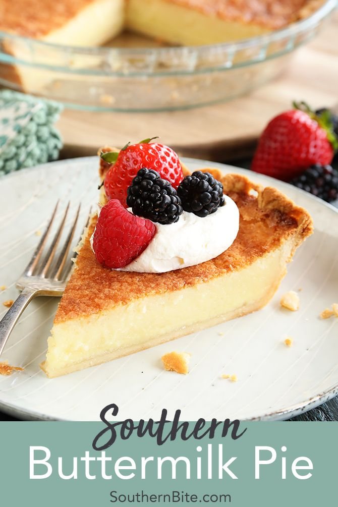 Southern Buttermilk Pie Recipe Southern Buttermilk Pie Buttermilk Pie Desserts