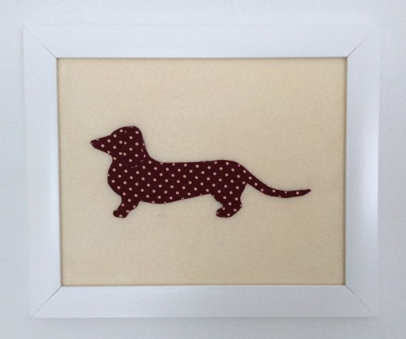 Framed Textile Dachshund Picture/Wall Art on Etsy