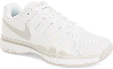 Nike 'Zoom Vapor 9.5 Tour' Tennis Shoe (Women), weiss, white, Schuhe, Tennis Dress, Tennis Fashion Women trendy Tennis Outfits for her, Tennismode, sportliche Mode fürs Tennisspielen.