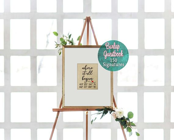 🌿 1st EVER Labor Day {SALE} 15% Off our best sellers! Shop Here: http://etsy.me/2klUndx {NOW thru Sept 4th ONLY}🌿 ► Ships in 3-5 business days ◄  Our wedding guest books are personalized in the center with a natural burlap art print of your choice and your wedding guests can sign the surrounding mat. Knot & Nest's wedding guest books allow you to uniquely capture sentiments from your wedding guests, and afterwards you have a cherished piece of art for your new home.  Shop...