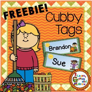 Do you need EDITABLE back to school name tags for your tables, cubby or bins?  Colorful, cute fall kids will brighten your classroom for back to�