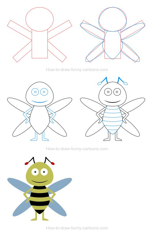 How to draw bee