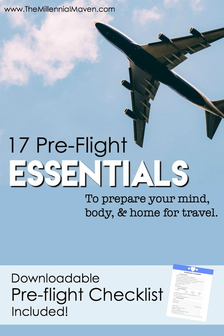 Traveling is stressful, but you can destress the situation through careful preparation. See my list of essential activities I do before every flight to ensure that my departure, trip, and return run as smoothly as possible. Plus, download my free Pre-Flight Checklist so you can be the hero of your traveling household!