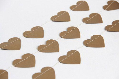 Girlanda /// srdce zlatá
