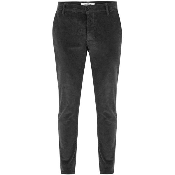 TOPMAN Charcoal Grey Skinny Corduroy Trousers (£35) ❤ liked on Polyvore featuring men's fashion, men's clothing, men's pants, men's casual pants, grey, mens skinny fit dress pants, mens grey dress pants, mens grey corduroy pants, mens gray pants and mens skinny corduroy pants