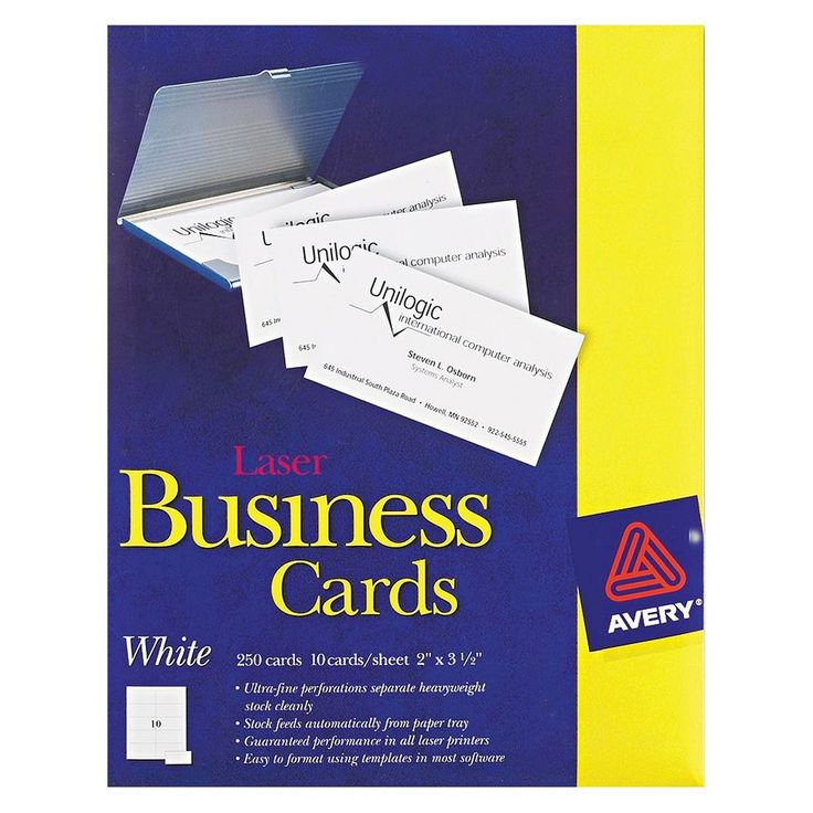 Diy Business Cards Avery Image collections - Card Design And Card ...