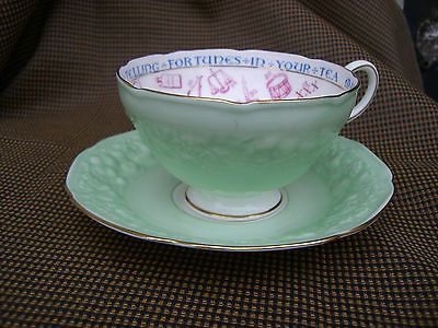 "Paragon Vintage Fortune Telling Tea Cup & Saucer Rare. ""Signs and Omens"""