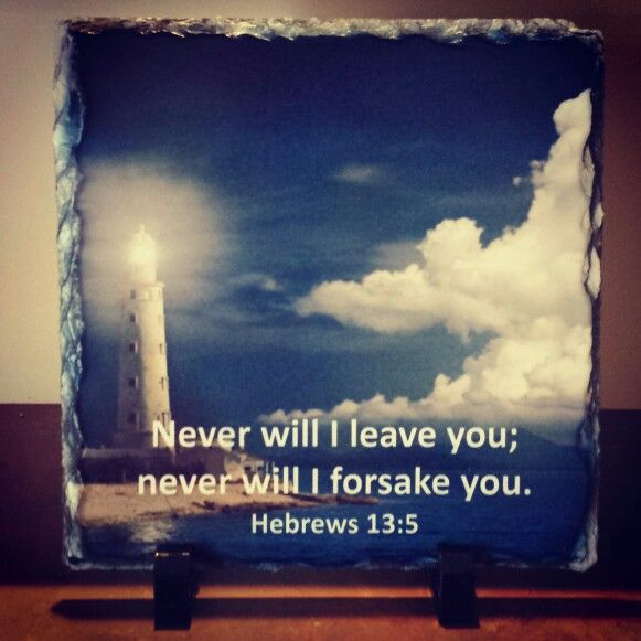 "Hebrews 13;5 ""Never will I leave you; never will I forsake you""    Handcrafted slate stone plaque with inspirational message, footrests and gift box included.      Limited stock available - http://www.biblestonesaustralia.com.au"