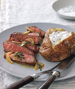 Strip Steak With Rosemary and Garlic from realsimple.com #myplate #protein
