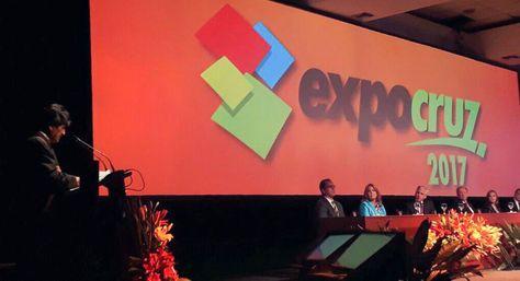Morales resalta crecimiento de la Expocruz y pide trabajo conjunto entre sector privado y público - La Razón (Bolivia)