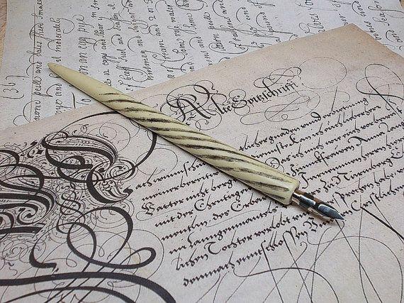 Polymer  dip pen  with nib. Nib holder for calligraphy.