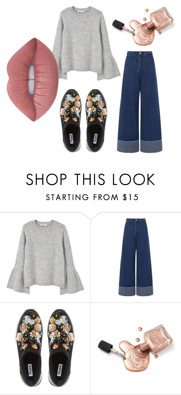 """""""Untitled #28"""" by dxrcx on Polyvore featuring MANGO, Sea, New York, Dune and Lime Crime"""