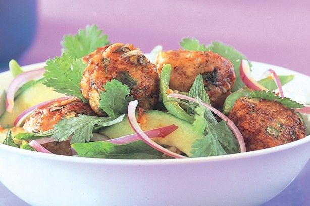 Thai fish balls with Asian salad main image