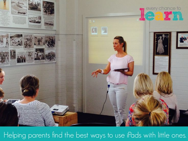 iPads and parents and preschoolers workshop