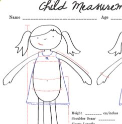 FREE Printable: Child Measurement Chart -  Just do all of your measuring and record the numbers on the handy chart, and the next time you need to know how big a waist is, or how broad a chest is, you can just look it up.