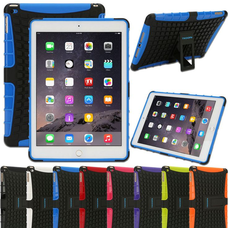 Shockproof Heavy Duty Rubber Stand Case Cover For Apple iPad 2/3 iPad 4 Mini Air #TKOOFN