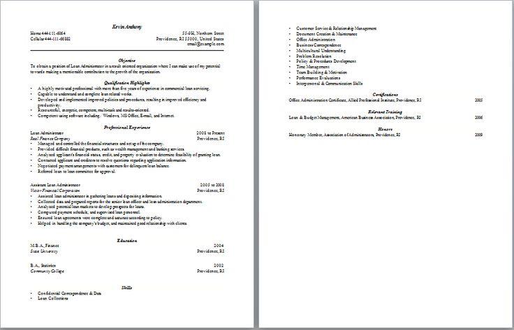 19 best Administrative Resume Samples images on Pinterest Resume - administrator resume
