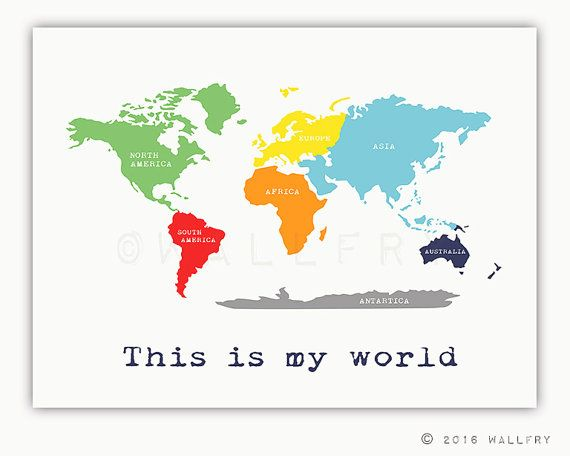 The Best World Map With Continents Ideas On Pinterest World - Map of the world continents