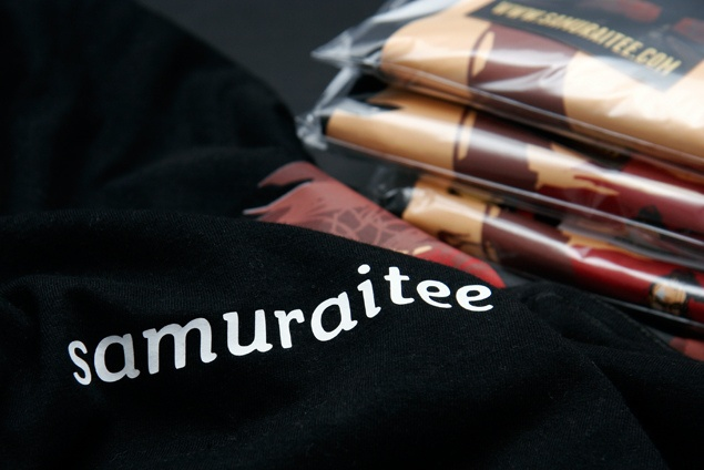 If you need any extra print on your SamuraiTee, we will be happy to do it for you even on an order of a single item!