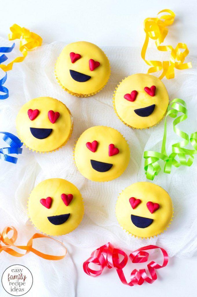 Emoji Cupcakes Cutest Heart Emoji Cupcakes Emoji Cupcake Ideas These Super Cute Heart Emoji Cupcakes Emoji Cupcakes Easy Cupcakes Easy Cupcakes Decoration