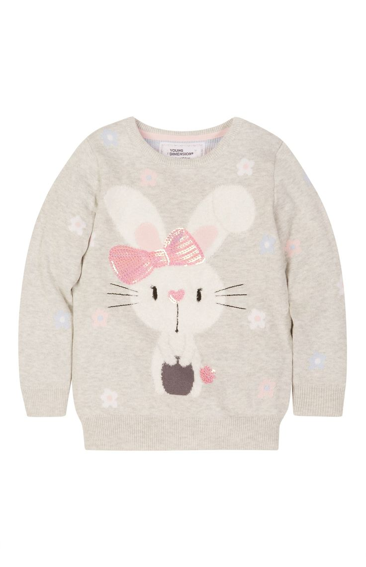 Primark - Grey Sequin Bunny Jumper
