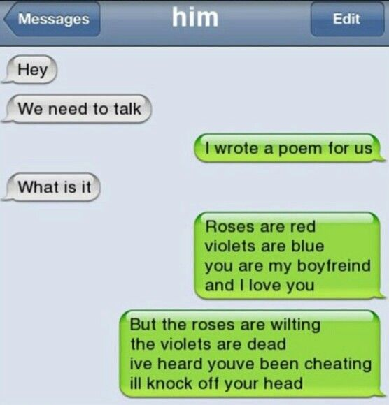 While dating a girl what do i text