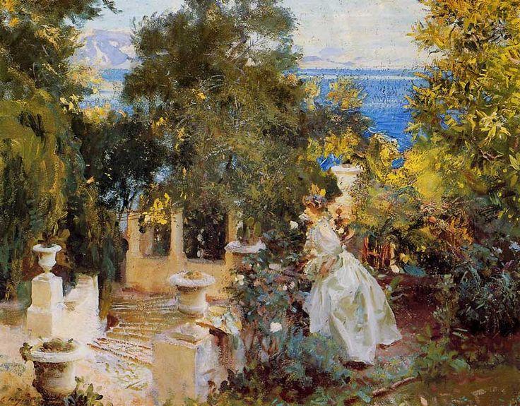 A Garden in Corfu, John Singer Sargent