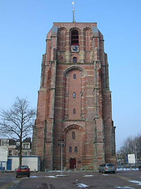 Oldehove in Leeuwarden, Friesland, Holland.