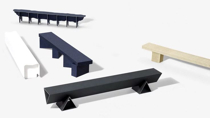 Solid Textile Board benches by Max Lamb on Vimeo