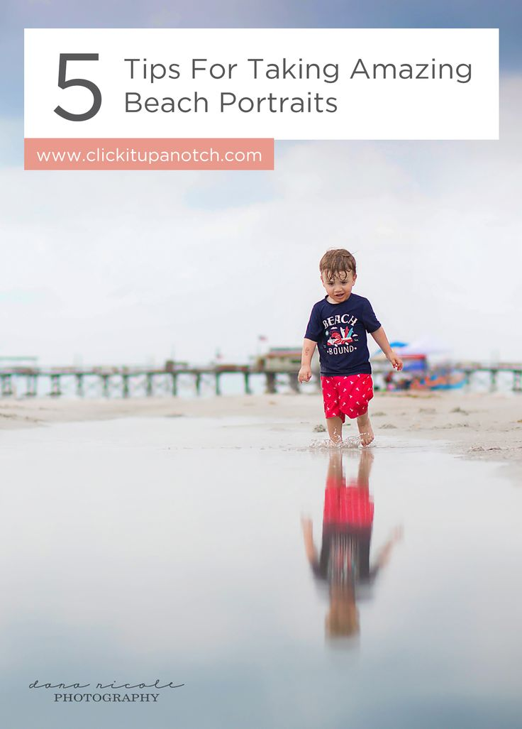 """I love that her skies are real and not added in! Read - """"5 Tips for Amazing Beach Portraits"""""""